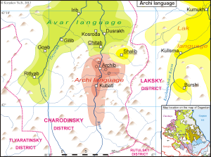 Area Where Archi is Spoken