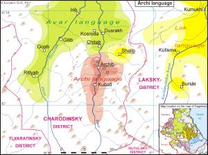 Area Where Archi is Spoken
