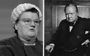 Bessie Braddock and Winston Churchill