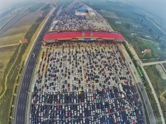 china 50 lane traffic jam