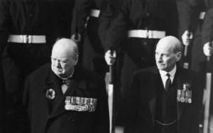 Sir Winston Churchill and Clement Attlee