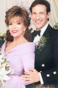 Joan Collins and Percy Gibson wedding photo