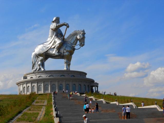 131-ft high statue of Genghis Khan in Ulaanbaatar, Mongolia