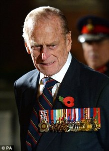 Prince Philip, Sporting  a Few of the Medals He Has Earned