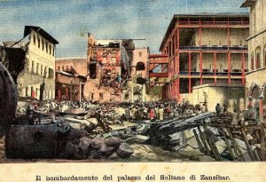 The Bombed Remains of the Palace of the Sultan of Zanzibar