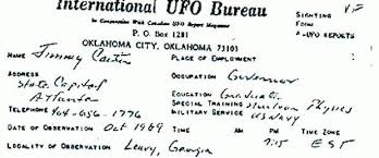 Excerpt from Jimmy Carter's UFO Report