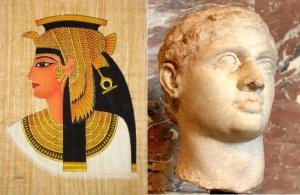 Cleopatra VII (69 BC - 30 BC) and Ptolemy XIII (62/61 BC - 47 BC)