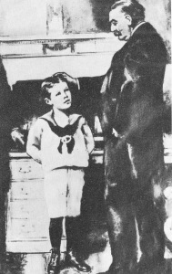 Franklin D. Roosevelt (age 5) and President Grover Cleveland