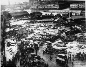 The aftermath of the disaster