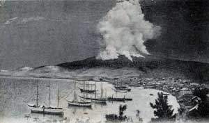 The eruption of Mont Pelee