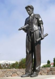A statue of Philo T. Farnsworth at the Letterman Digital Arts Center in San Fransisco
