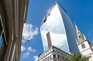 """The """"Walkie Talkie"""" Building at 20 Fenchurch Street, London, England"""