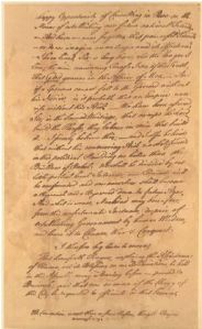 a page from the manuscript of Franklin's address -- Library of Congress