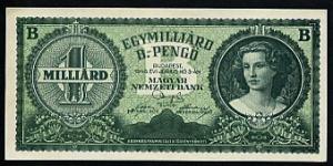 1946 Hungarian Milliard Bilpengő