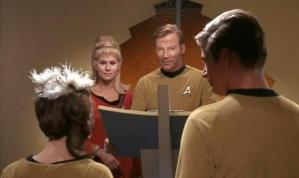 A scene from Star Trek's episode,
