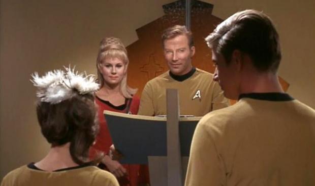 A scene from Star Trek's episode,