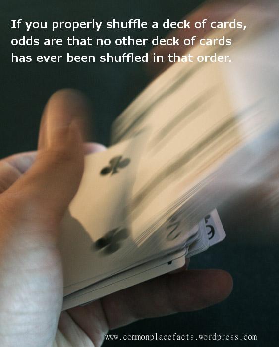 cards shuffle random never repeat