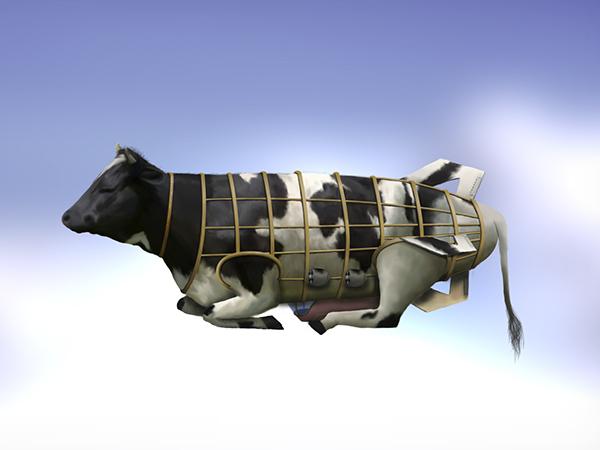 cow zeppelin