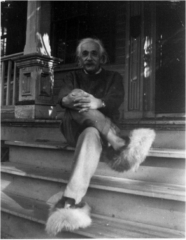 Einstein disliked wearing socks