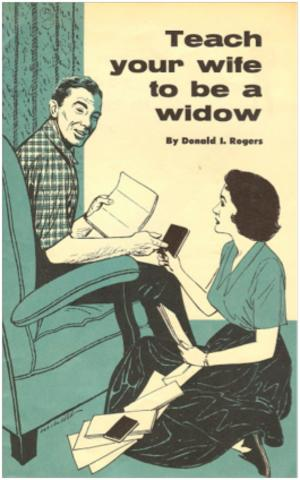 teach your wife to be a widow self help weird books