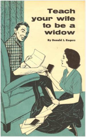 teach your wife to be a widow self help weird books