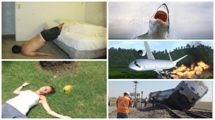 ways to die shark falling bed plane crash train coconut