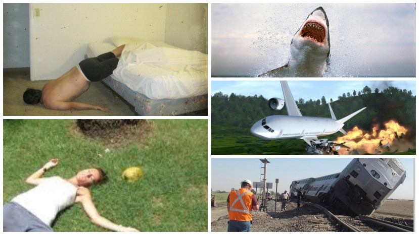 ways to die shark falling bed plane crash train coconut
