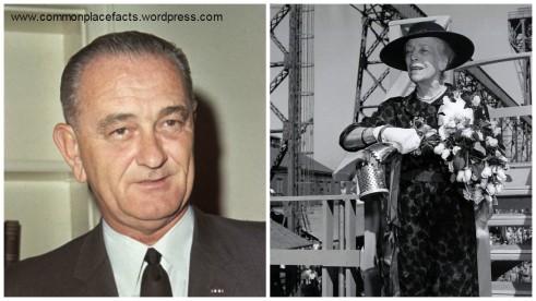 Alice Roosevelt wide-brimmed hat Lyndon Johnson kiss