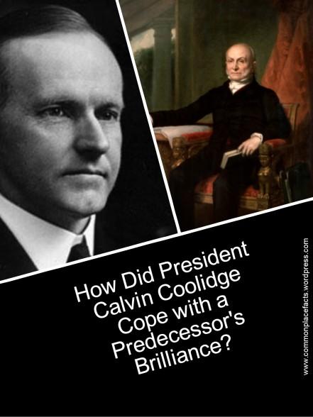 Calvin Coolidge John Quincy Adams portrait shiny