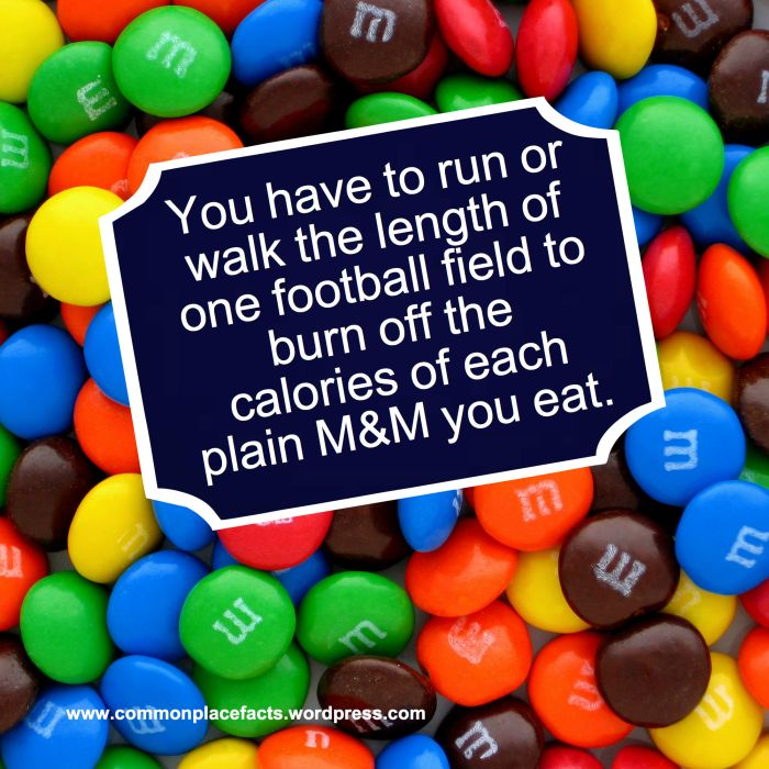 exercise needed to burn off M&M