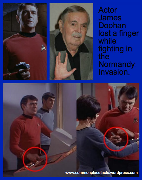 James Doohan Scotty wounded Normandy Invasion