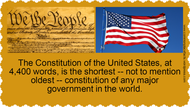 The Constitution of the United States is the shortest and oldest of any government in the world