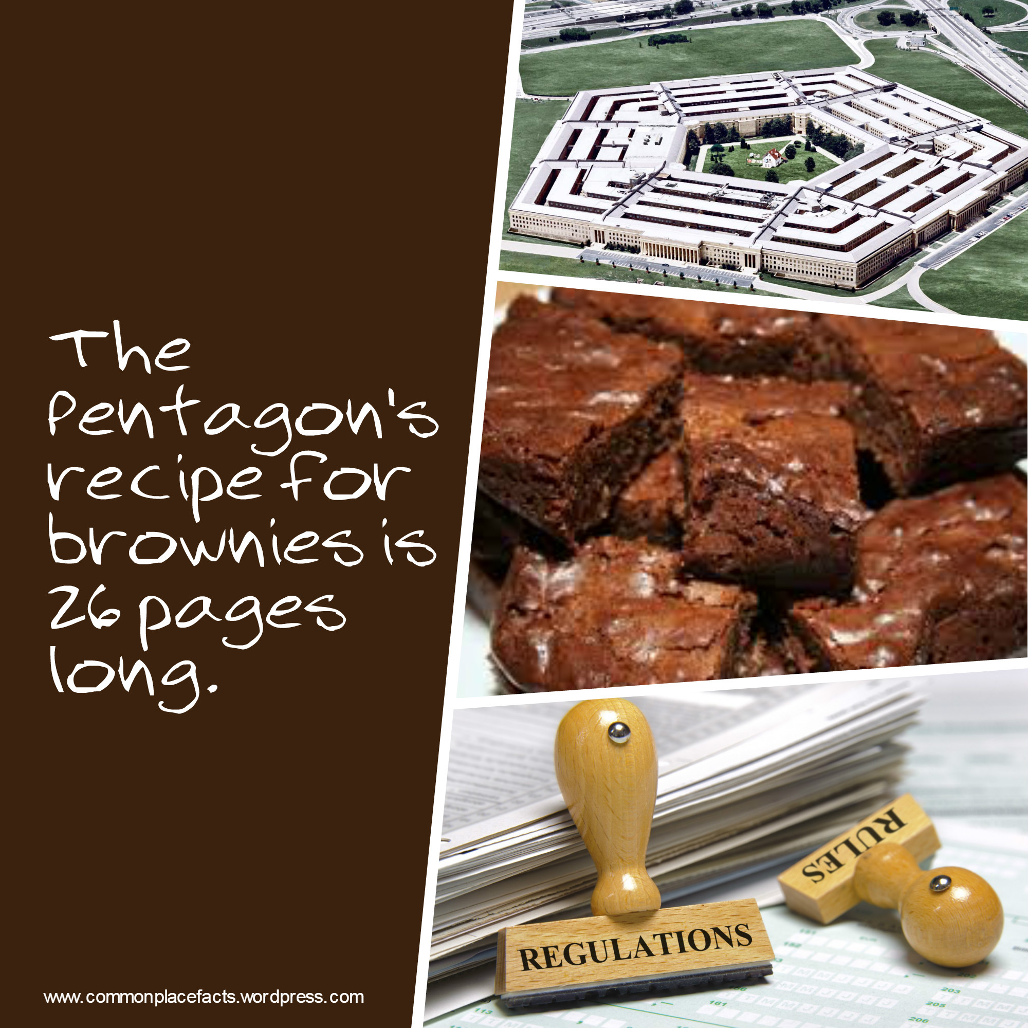 Petagon's recipe for brownies is 26 pages long