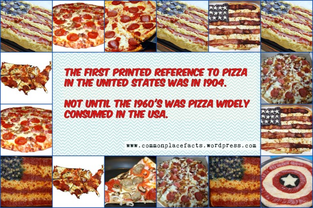 First printed reference to pizza in United States was in 1904