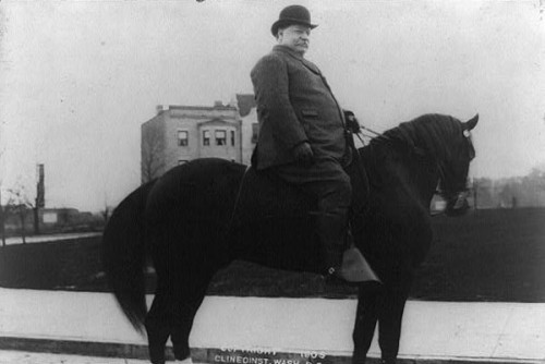 William Howard Taft on Horseback