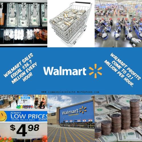 Walmart sales per second profits per second