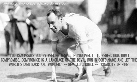 chariots of fire quotes run in God's name J.D. Liddell