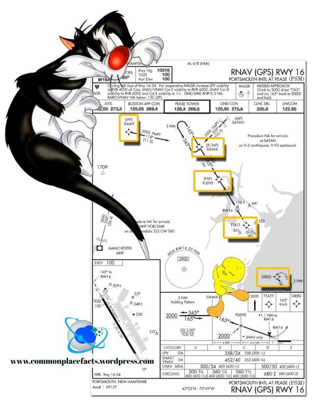 Sylvester Tweety Bird Approach Plate Portsmouth