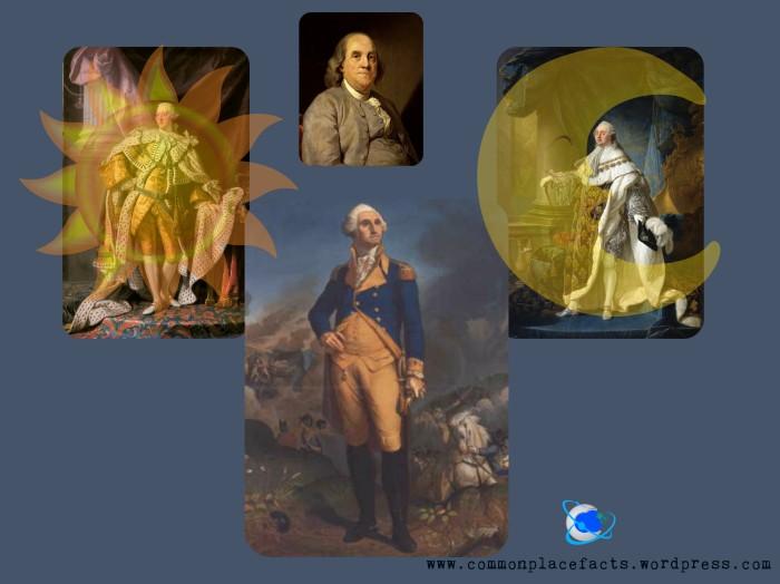 Benjamin Franklin George III Louis XVI George Washington