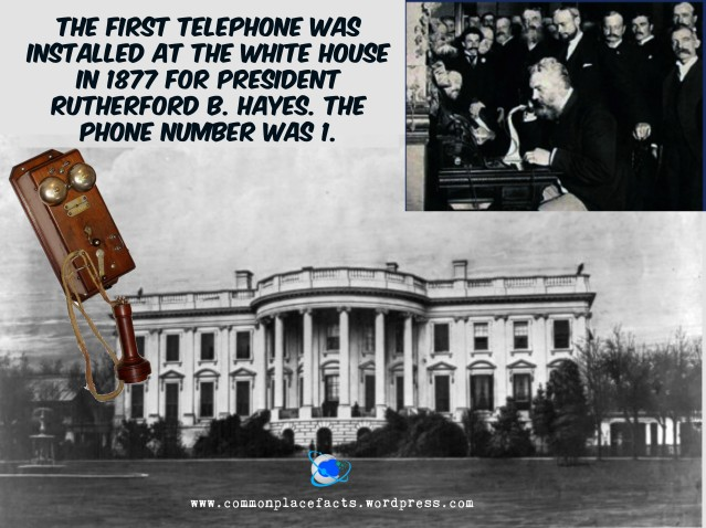 First telephone in White House in 1877 Rutherford B. Hayse