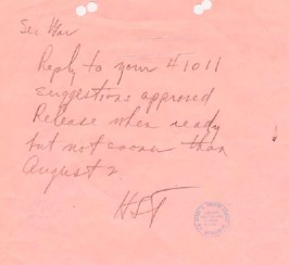 Harry Truman order approving use of atomic bomb