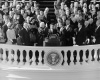 """""""Hot words"""" Eisenhower to Kennedy fire at podium"""