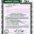 dinosaur hunting license vernal, Utah
