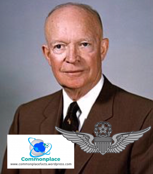 President Dwight Eisenhower first president with a pilot license