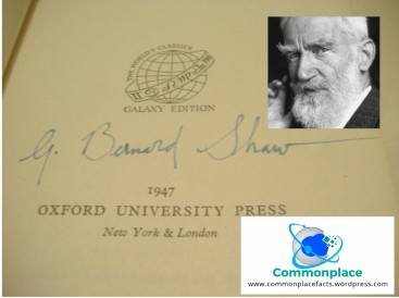 "George Bernard Shaw ""with renewed compliments"""