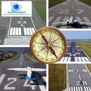 Airport runway numbers magnetic heading