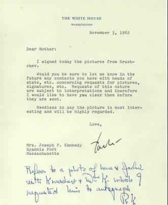 jfk letter to mom