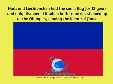 1936 Olympics flags Haiti Liechtenstein