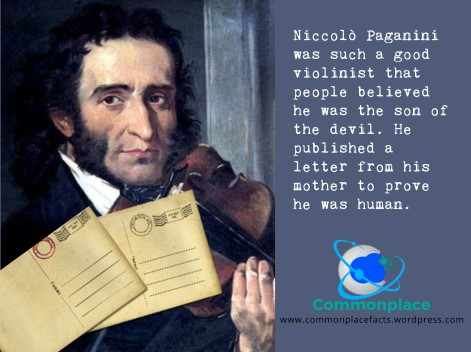 Niccolò Paganini rumors son of devil letter from mother