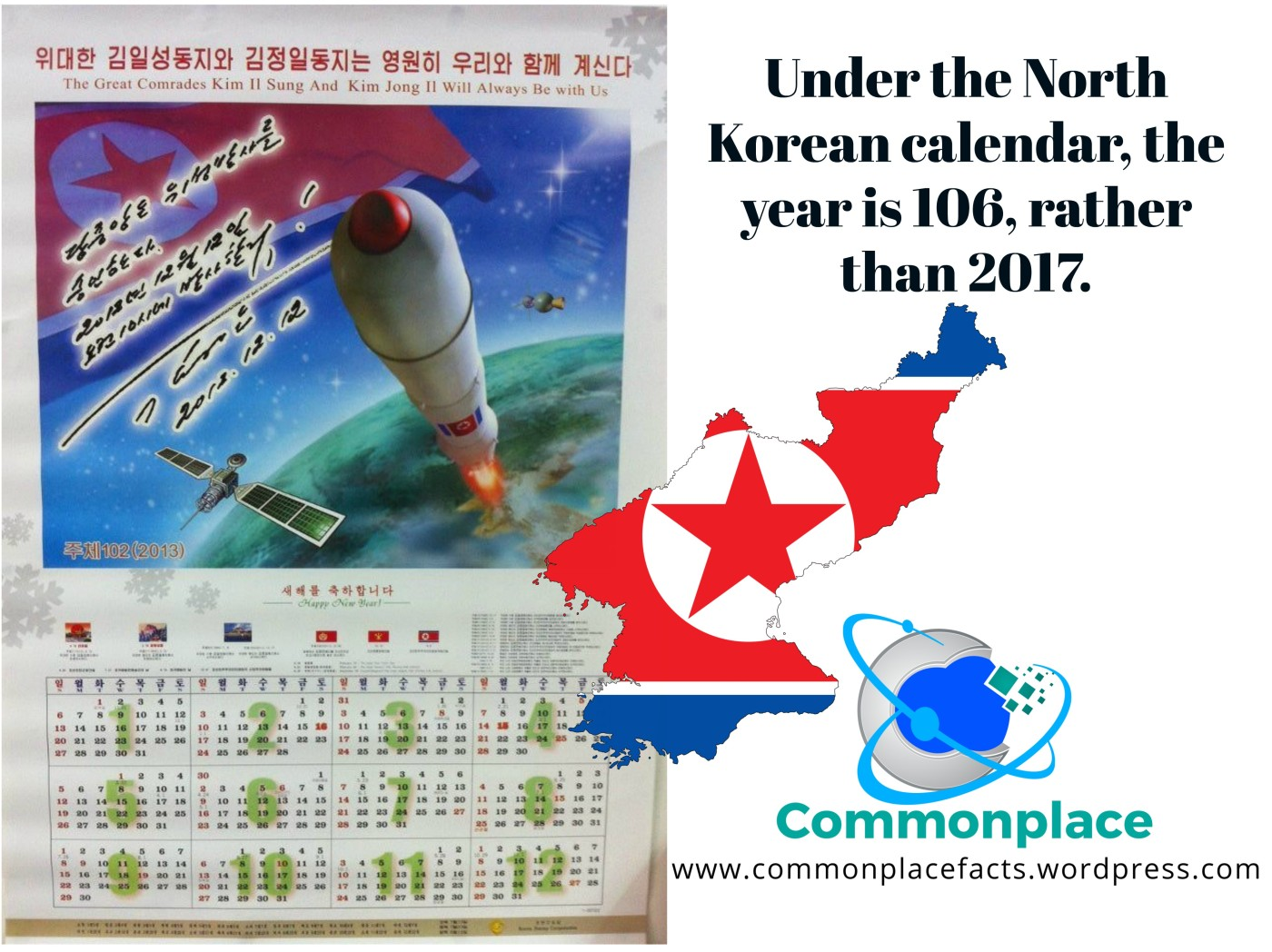 #NorthKorea #Juche #calendar #dates #funfacts